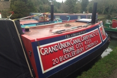 """Grand Union Canal Carrying Co. Ltd"" Narrow Boat at Stoke Bruerne"