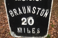 20 mile milepost from Braunston