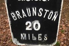 20 mile milepost from Braunston