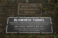 Restoration commemorative plaque, Blisworth Tunnel on the Grand Union Canal