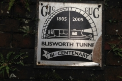 Bi-Centenary commemorative plaque, Blisworth Tunnel on the Grand Union Canal
