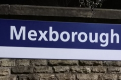 Station Platform Sign at Mexborough Station